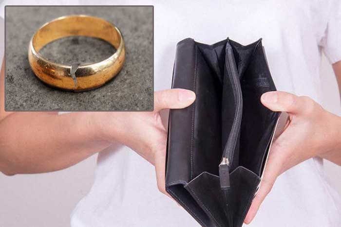 золотое кольцо лопнуло